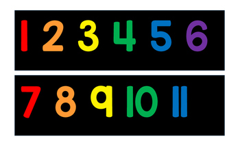 Black and Primary 1-120 Number Line + White and Primary 1-120 Number Line