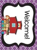 Black and Purple Quatrefoil Welcome Banners