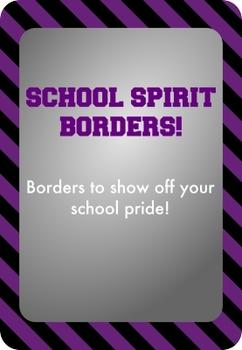 Black and Purple - School Spirit Borders 4 Pack