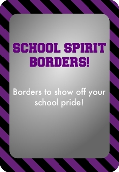 Black and Purple - School Spirit Borders 9 Pack