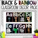 Black and Rainbow Classroom Decor