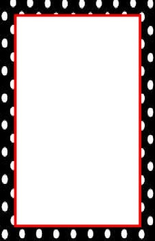 Black and Red Border Print