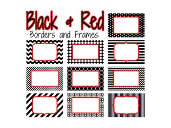 Black and Red Borders and Frames