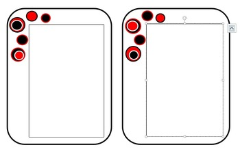Black and Red Bubble Pattern for Stationary and Printables