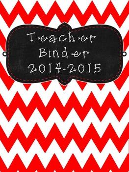 UPDATED!!! 2016-2017 Black and Red Editable Teacher Organization Binder