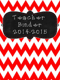UPDATED!!! 2016-2017 Black and Red Editable Teacher Organi