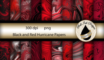 Black and Red Hurricane Papers Clipart