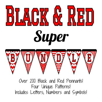 Black and Red Pennant Super Bundle