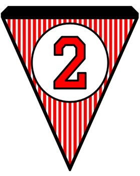 Black and Red Pinstripe Pennants