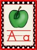 Black and Red Polka Dot Alphabet Cards with Activities