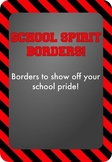 Black and Red - School Spirit Borders 4 Pack