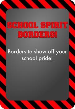 Black and Red - School Spirit Borders 4 Pack