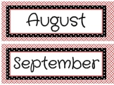 Black and Red Theme Calendar Headers