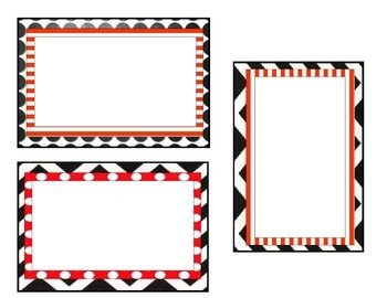 Black and Red themed nametags
