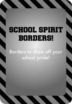 Black and Silver / Gray - School Spirit Borders 9 Pack