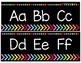 Black and Soft Bright Alphabet Strip