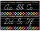 Black and Soft Bright Cursive Alphabet Strip