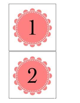 Spring number cards 1-20