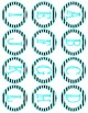 Black and Turquoise Bulletin Letters