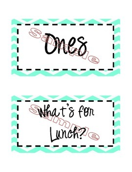 Black and Turquoise Chevron Classroom Heading Labels {Editable}