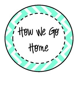 Black and Turquoise Chevron How We Go Home Clip Chart