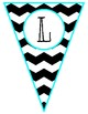 Black and Turquoise Welcome Banner