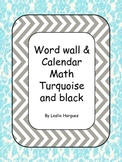 Black and Turquoise Word wall