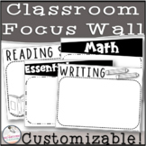 Black and White EDITABLE Focus Wall!