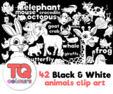 Black and White 42 Animal Clip Art - TQ colours