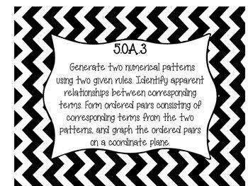 Black and White 5th Grade Common Core Standards