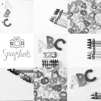 Black and White ABC 123