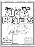 Alphabet posters with alphabet tracer and personal alphabe
