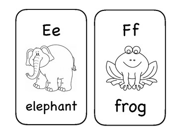 Black and White Alphabet Flashcards
