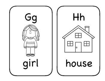 Black and White Alphabet Flashcards