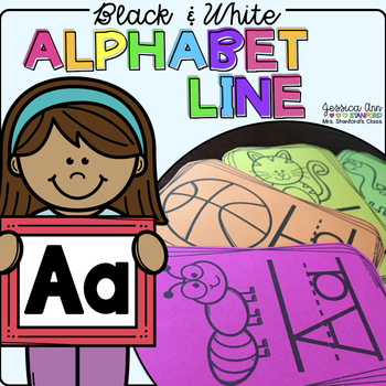 Black and White Alphabet Line