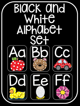 Black and White Alphabet Posters