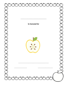 Black and White Apple Award Template