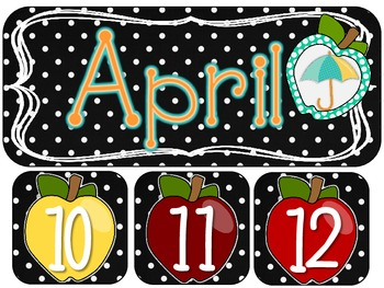 Black and White Apple Themed Classroom Decor
