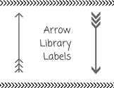 Black and White Arrow Library Labels
