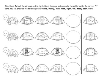 Black and White Articulation Activities for /t/, /d/, /n/