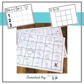Articulation Picture Cards & Activities:  Black and White