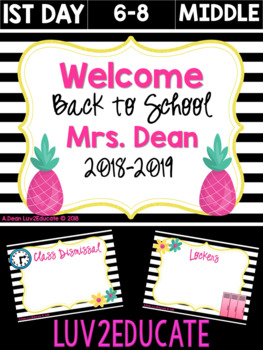 Black and White Back to School Powerpoint