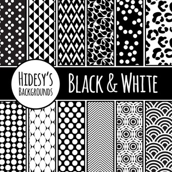 Black and White Backgrounds / Digital Papers / Patterns Clip Art Commercial Use