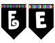 Black and White Banner Style Letters