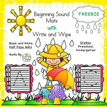 Black and White Beginning Sounds / Write and Wipe Half She
