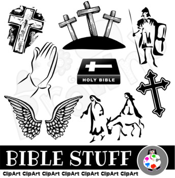 Black and White Bible Clip Art