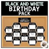 Black and White Birthday Pack