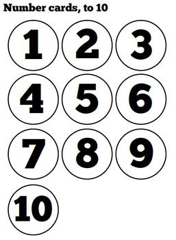 Black and White - Board game for ordering numbers to 10 or 20