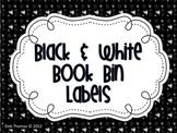 Black and White Book Bin Labels (Editable)
