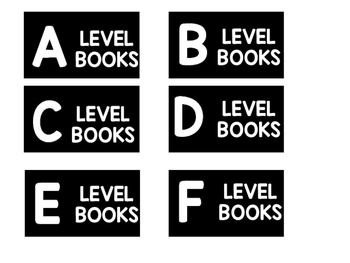 Black and White Book Bin Labels Featuring Melonheadz